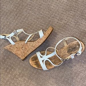 Michael Kors White Strappy Wedges